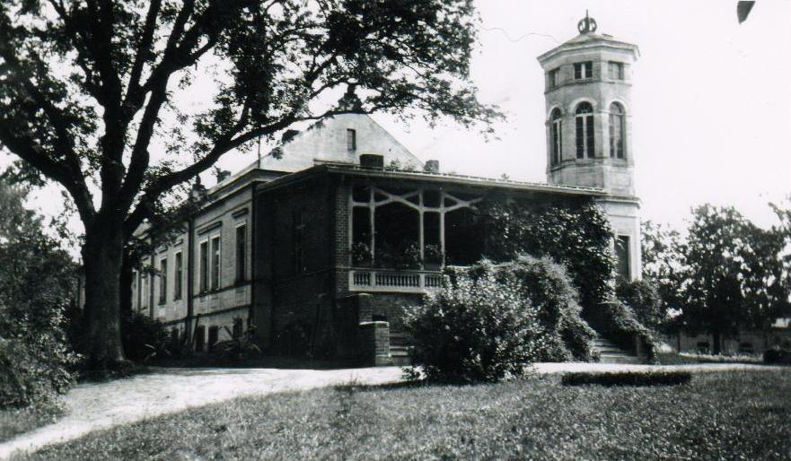 Pałac od strony parku, lata 30ste XX wieku