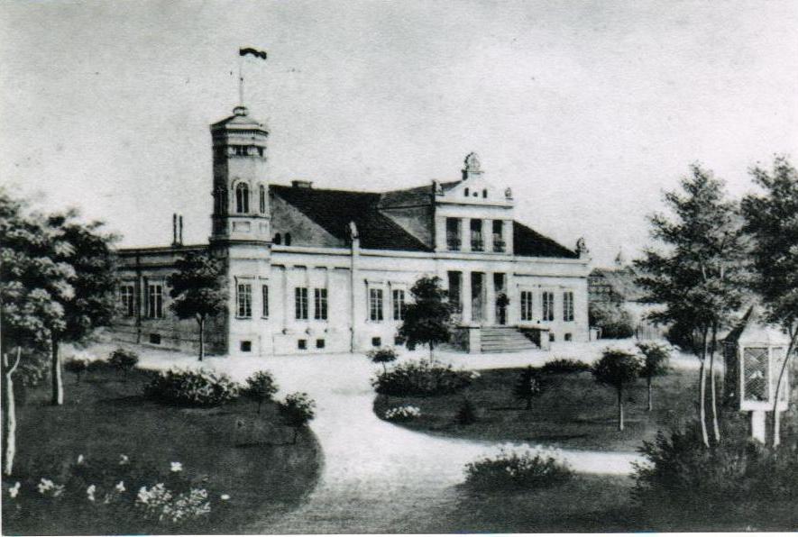 Pałac w połowie XIX wieku